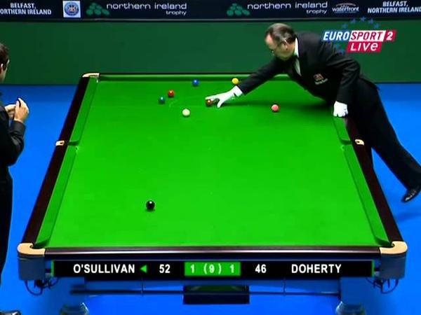 2008 Snooker Northern Ireland Trophy R2 Ronnie OSullivan vs Ken Doherty Frame 1-9