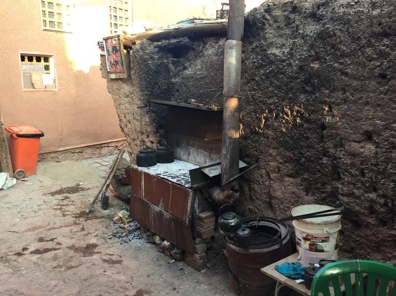 Печка на которой сделали чай