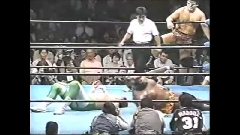 1996.07.24 - Mitsuharu Misawa/Jun Akiyama/Tamon Honda vs. Giant Baba/Giant Kimala II/Jun Izumida [JIP]