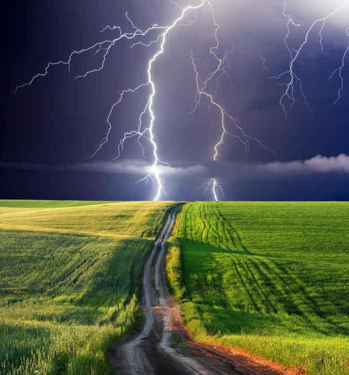 Система заземления может использоваться для защиты устройства от молнии.