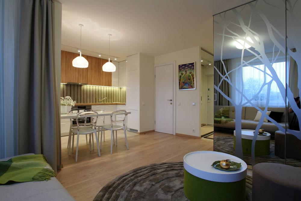 Квартира-студия площадью 35 кв.