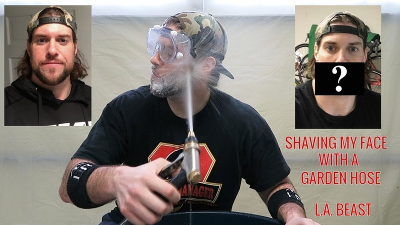 How To Get Rid Of Your Beard Using A Garden Hose