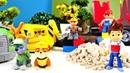 Paw Patrol oyuncakları Lego Duplo inşaatına yardım ediyor