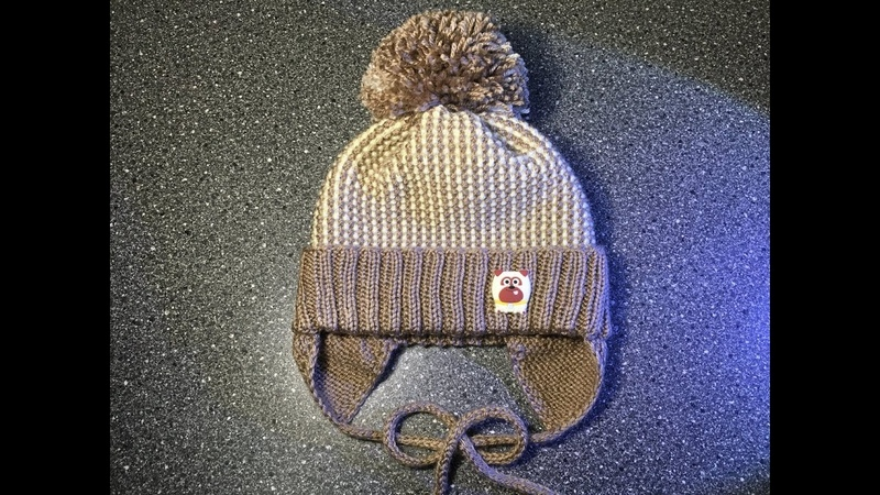 Вяжем детскую шапочку спицами Тёплая шапочка с ушками