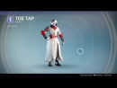 Destiny_20180124 WHITE-RED WARLOCK WOMEN vers40 . emote TOE TAP .