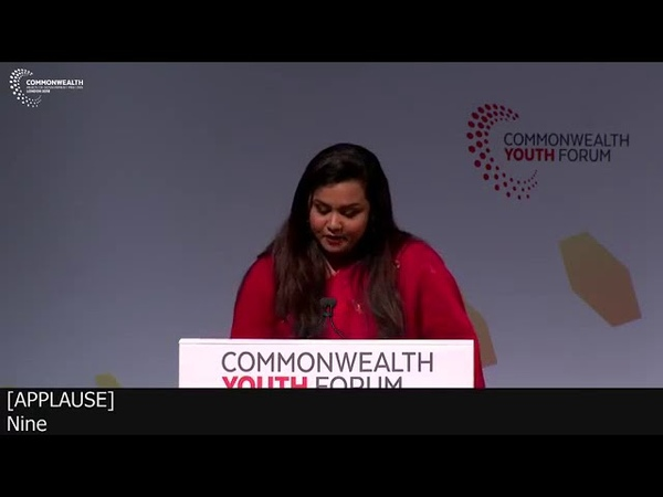 UN SG`s Envoy on Youth Opening Speech at the Commonwealth Youth Forum 2018