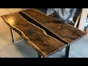 Make Amazing Epoxy Resin Table with Walnut Wood Awesone DIY Woodworking Projects and Ideas