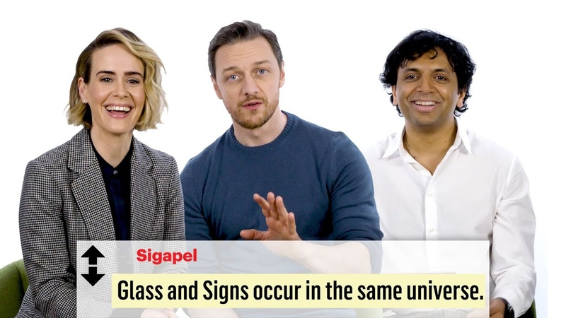 James McAvoy, M. Night Shyamalan Sarah Paulson Break Down Glass Fan Theories from Reddit