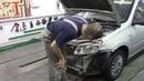 Ремонт кузова Лада Гранта. Body repair after an accident.