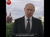 Welcome to Russia!' Putin greets football fans teams coming for the WorldCup