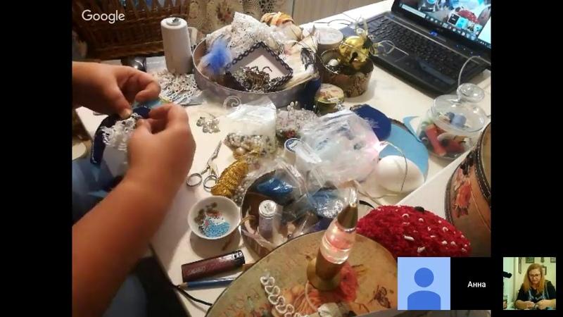 Изящный кокошник для Снегурочки, Школа авторской куклы Мальвина , Анна Захарутина