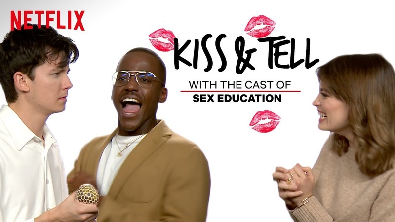 Sex Education Cast Take the Blindfolded Kissing Challenge | Kiss Tell | Netflix