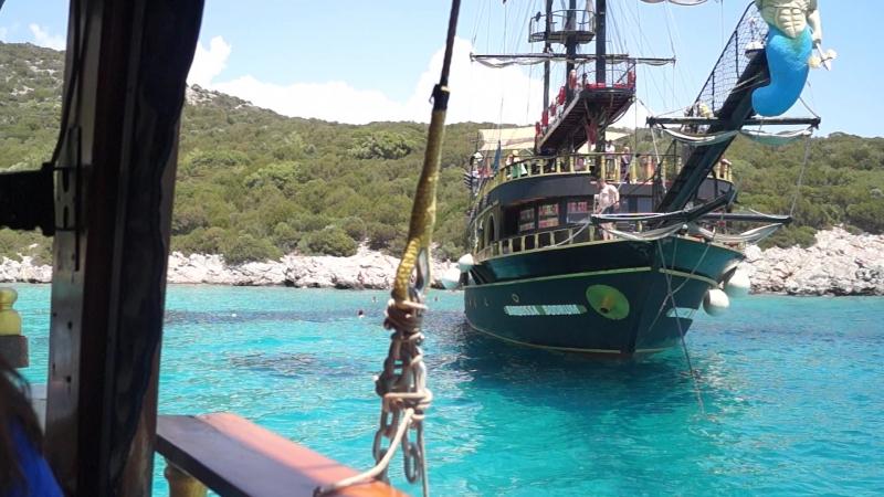 Турция..Бодрум..пиратский корабль Чёрный ангел..