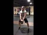 Силовая тренировка Дмитрия Кудряшов перед возвращением на ринг