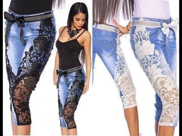 Стильная одежда из старых джинсов своими руками