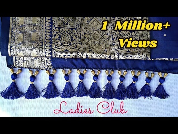 How to make Saree Kuchu with Crystals and Beads Design 1 I Detailed Tutorial