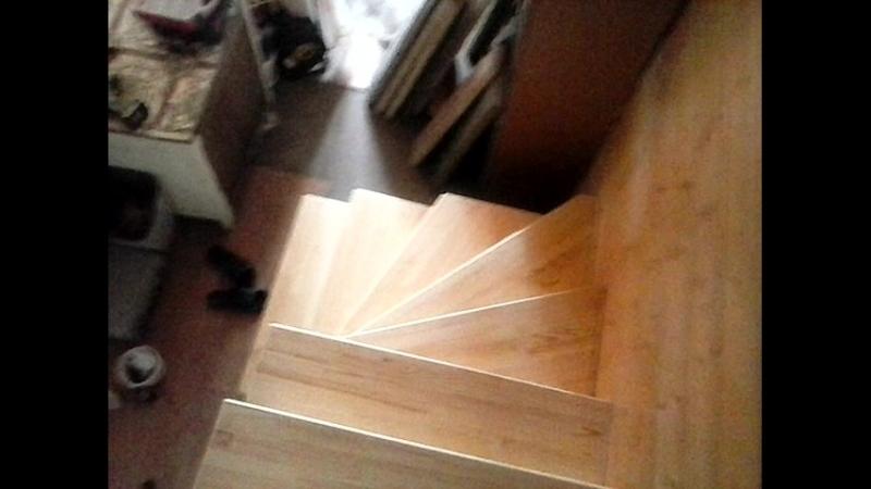 Отделка металлокаркаса деревянными ступенями