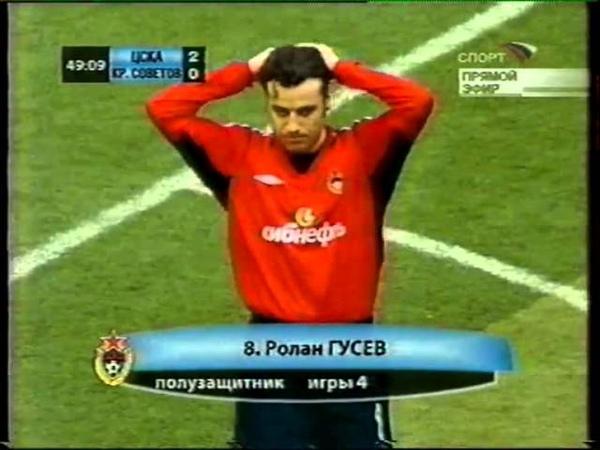 ЧР 2005. ЦСКА - Крылья Советов. 5-0 (2 тайм)