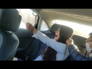 Bondage her in her Car