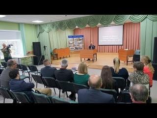 Совещание по вопросам окончания строительства пешеходного моста через р. Охта.