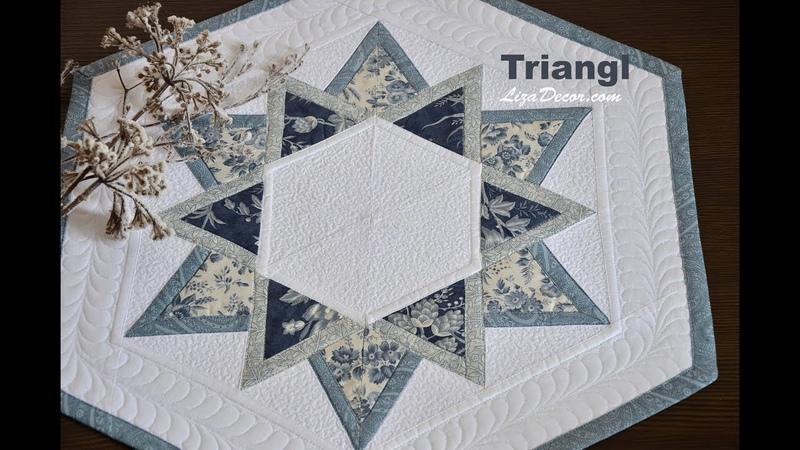 Patchwork tutorial Triangl - Patchworkové vzory podle pravítka Triangl LizaDecor.com