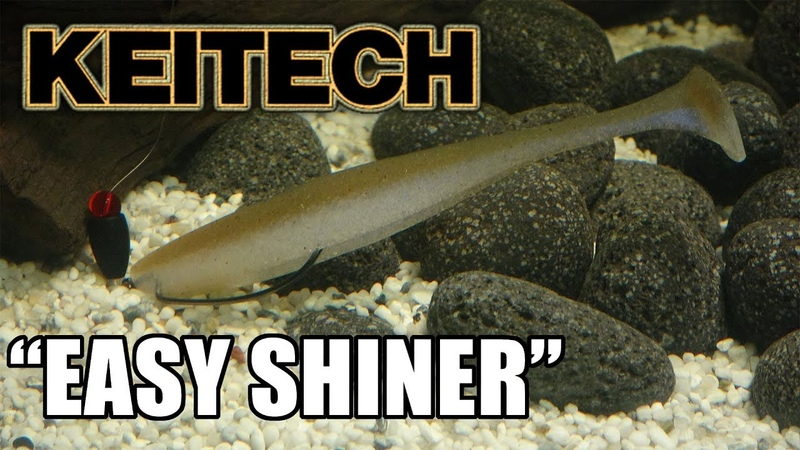 Keitech: Easy Shiner! Lure action on a Texas Rig! Underwater! Full HD