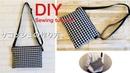 すべて100均材料でサコッシュ作り方 DIY How to make zipper bag with shoulder strap