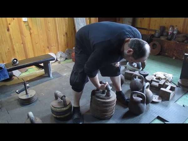 Гиря 120кг диаметр дужки 57mm на хват Grip workout with the 120kg kettlebell handle`s D 57mm