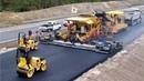 Extreme Fast Asphalt Paving Machine World Amazing Modern Road Construction Machines