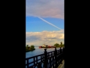 Карабль уходит в озеро