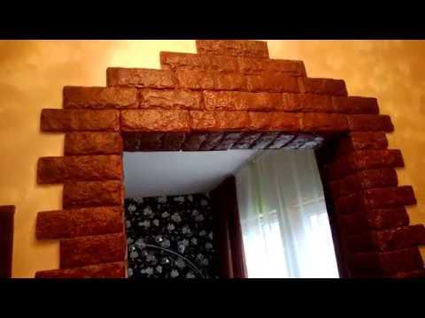 красивое оформление дверного проема за копейки результат 2 части