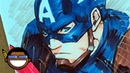 Long Vo Draws Captain America - with Copic markers