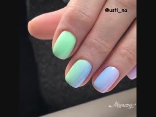 Когда я увидела эти цвета, сразу захотелось сделать такой маникюр 😁