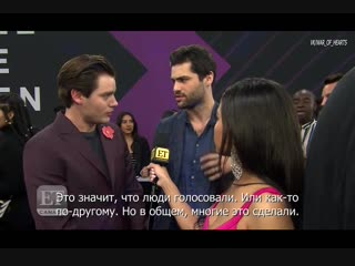 Dominic Sherwood, Matthew Daddario Love Their Fans (rus sub)