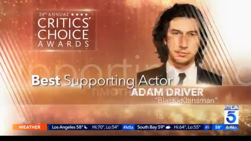 Congratulations to Adam Driver on his CriticsChoice award nomination
