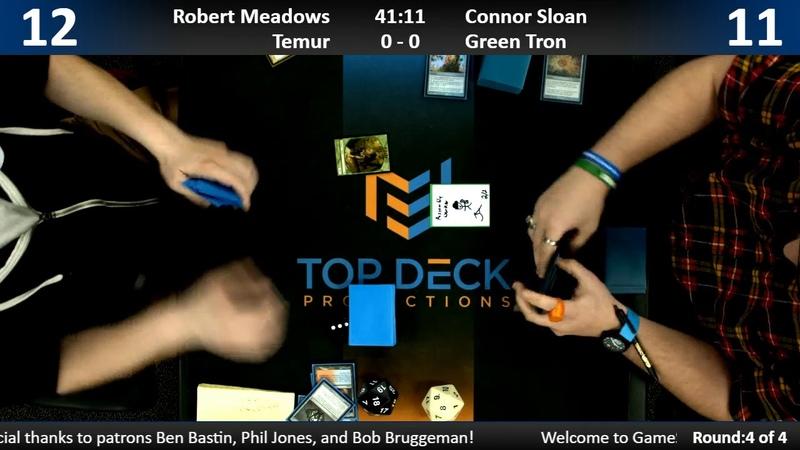 Modern w Commentary 11 8 18 Robert Meadows Temur vs Connor Sloan Green Tron