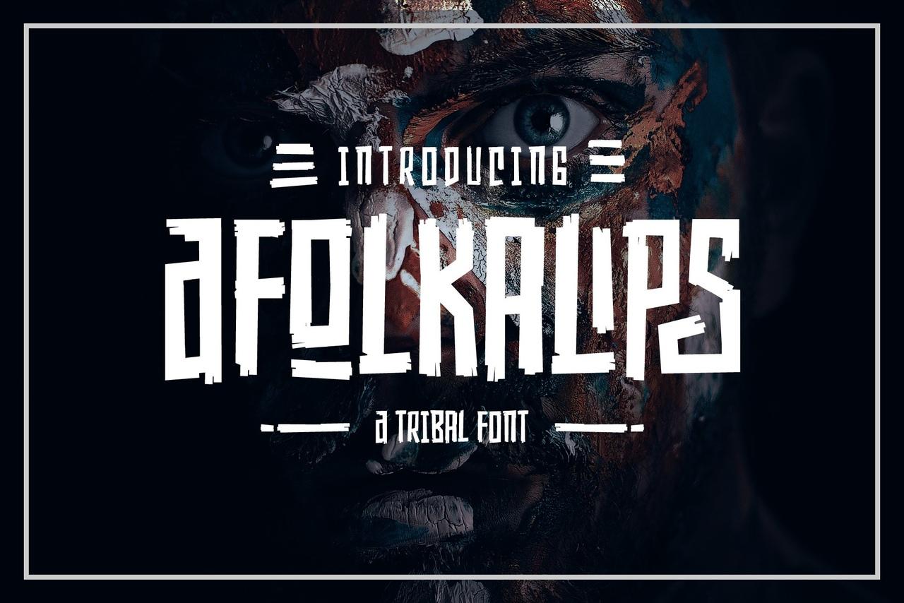 Шрифт - Afolkalips