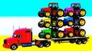 Мультики Про Трактор на Автовозе Учим Цвета с Машинками Развивающее Детское Видео и Детские Песенки