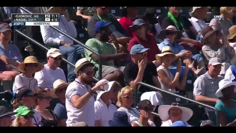 Djokovic vs. Nadal - Indian Wells 2016 SF Highlights 2-2