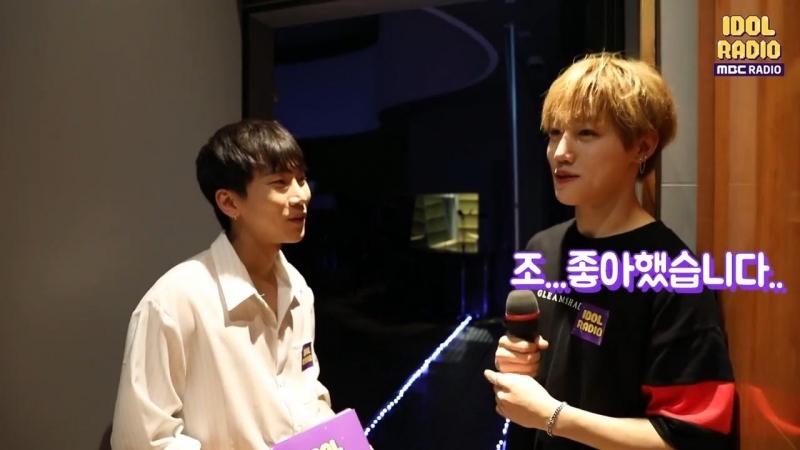 [BACKSTAGE] 16.07.2018: Ынкван и Чанчжун (Golden Child) @ MBC 'Idol Radio'