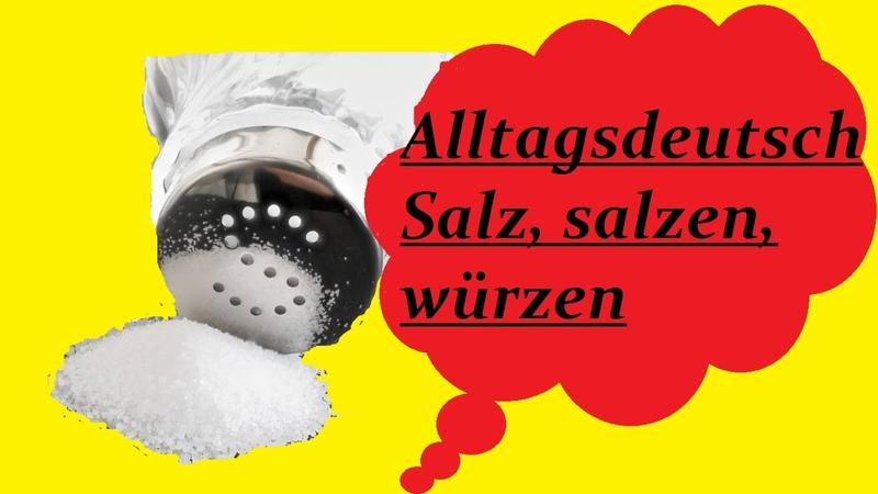 Alltagsdeutsch/немецкий в быту/Salz/salzen/würzen