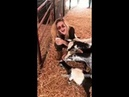 Frances Cobain 181005 with Goats