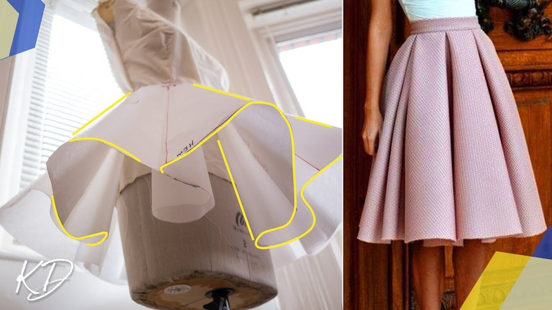 HOW TO: DRAFT BOX PLEATED CIRCLE SKIRT PATTERN | KIM DAVE