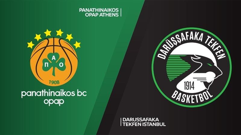 Panathinaikos OPAP Athens - Darussafaka Tekfen Istanbul Highlights | EuroLeague RS Round 12