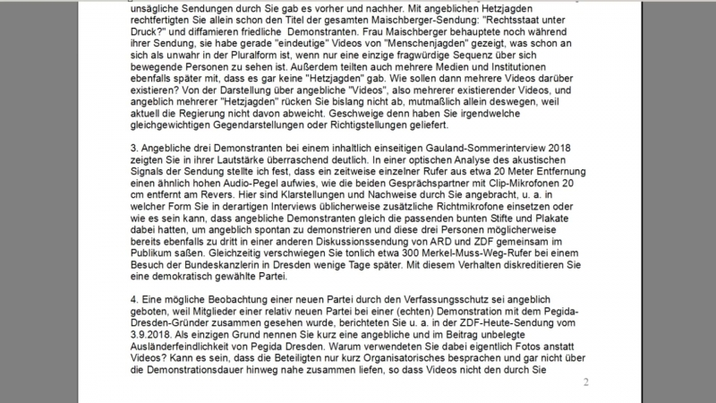 Gewaltdrohung bei ARD-ZDF - Ex-Mitarbeiterin konkret betroffen. GEZ-Brief wegen Chemnitz.