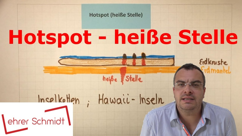 Hot Spot heiße Stelle Erdkunde Plattentektonik Lehrerschmidt