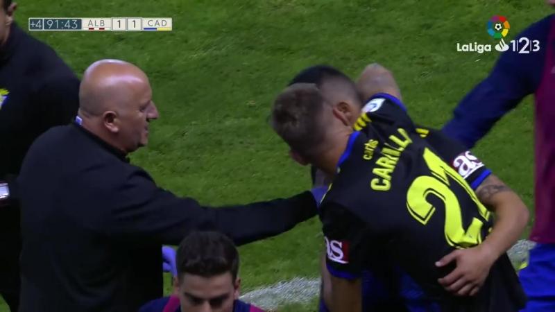 Альбасете Баломпье - Кадис CF, 1-1, гол Дани Ромеры, голевая Альберто Переа