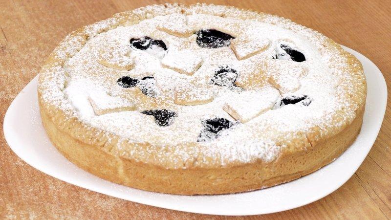 Черничный пирог видео рецепт