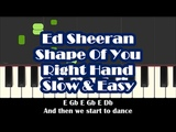 How To Play Shape Of You by Ed Sheeran - Right Hand Slow Easy Piano Tutorial