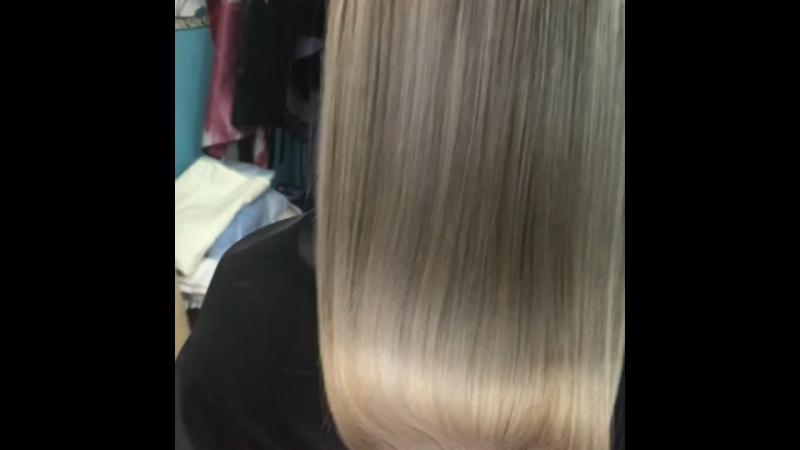 Тонирование плюс кератин волос